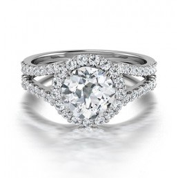 Classic Double Claw Diamond Engagement Ring