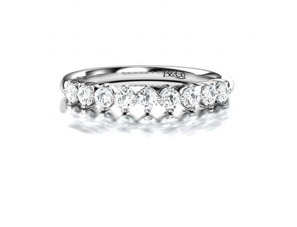 Floating Diamond Eternity Ring in 14K White Gold Comprised of 0.36ctw