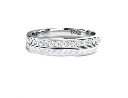 Channel Set Diamond Eterntity Ring in 14K White Gold comprised 0.15ctw