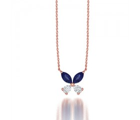 Classic Claw Set Diamond Clover Pendant Necklace in 14K White Gold