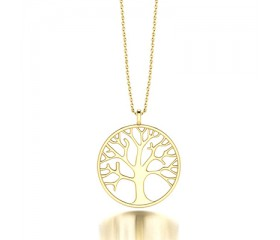 Tree of Life Pendant in 14K Rose Gold