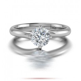 Classic Solitaire 4 Prong Twist Set Diamond Engagement Ring comprised 1.30ctw