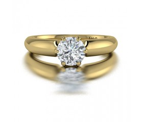 Classic Solitaire 6 Prong Diamond Engagement Ring in 14K Yellow Gold comprised of 0.70ctw
