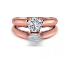 Classic Solitaire 6 Prong Diamond Engagement Ring in 14K Rose Gold comprised of 0.70ctw