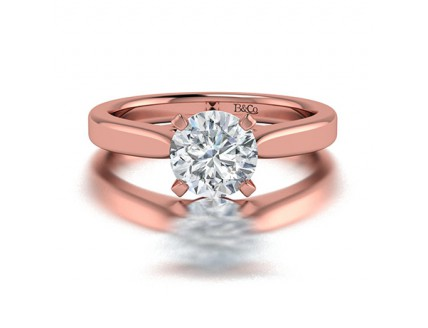 Classic Solitaire 4 Prong Diamond Engagement Ring in 14K Rose Gold Comprised of 2.20ctw