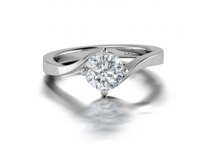 Classic Solitaire Tension Set Diamond Engagement Ring in 14K White Gold Comprised of 1.30ctw