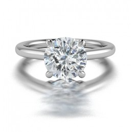 Classic 4 Prong Solitaire Diamond Engagement Ring in 14K White Gold comprised of 1.80ctw